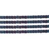 Delica 10/0 Rd Blue Aurora Borealis Matte Metallic